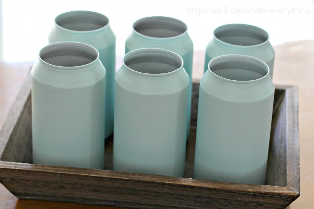 Painted Soda Can Vases 2.1