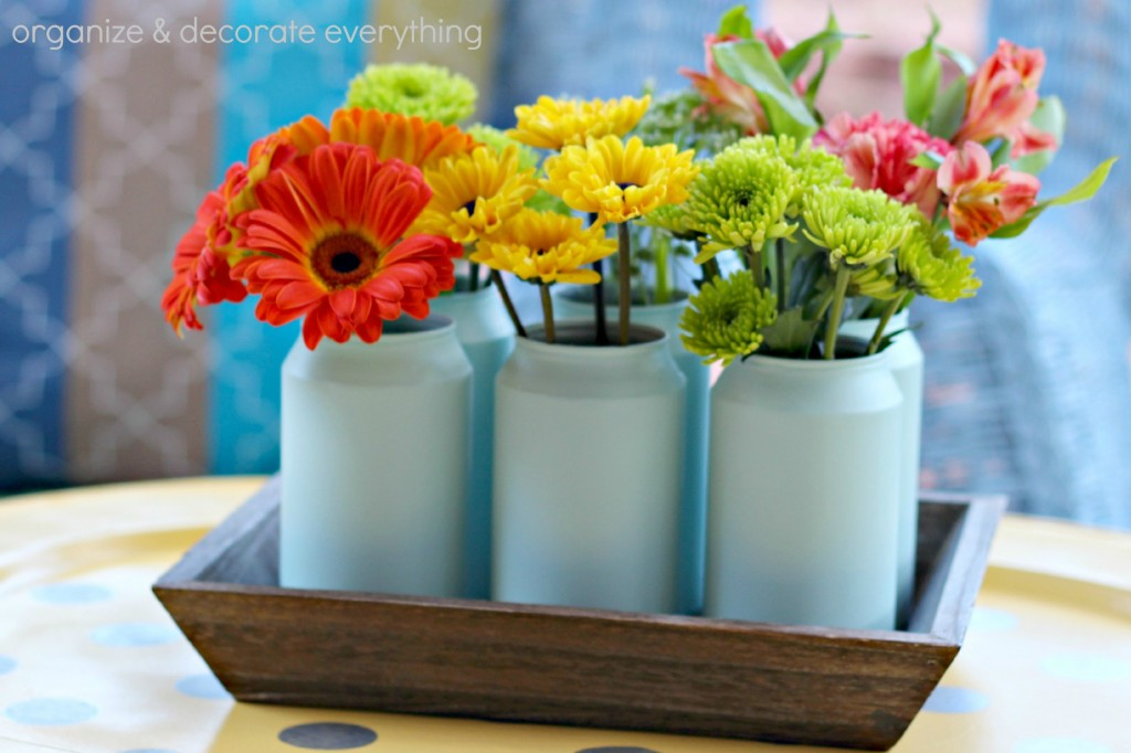 Painted Soda Can Vases 6.1