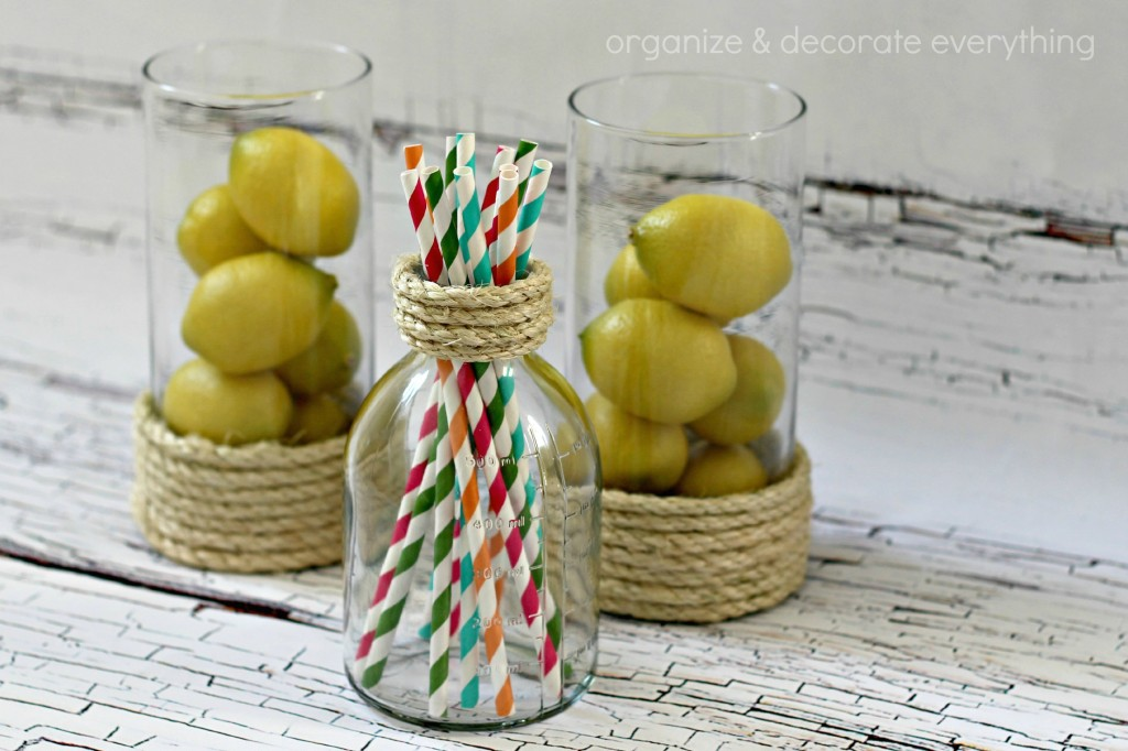 Rope Wrapped Vases 7.1