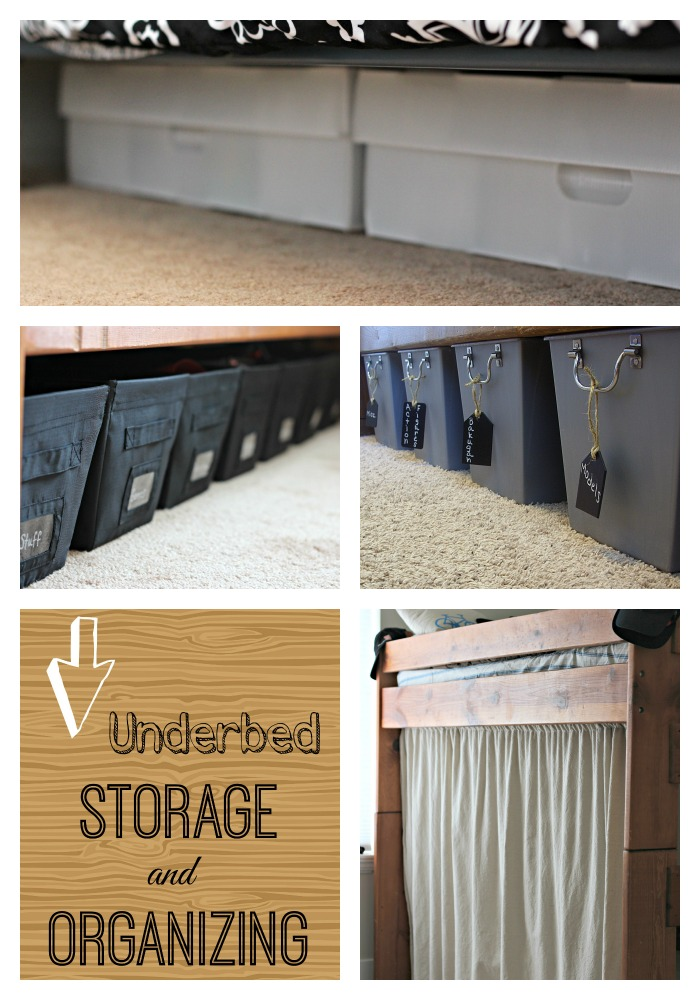 Underbed storage button