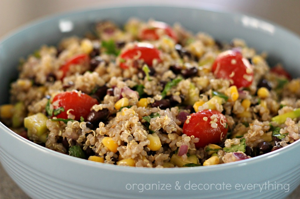 Veggie and Black Bean Quinoa Salad - Organize and Decorate Everything