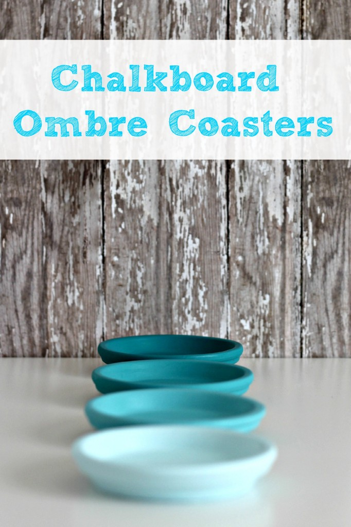 ombre painted coasters 2.1
