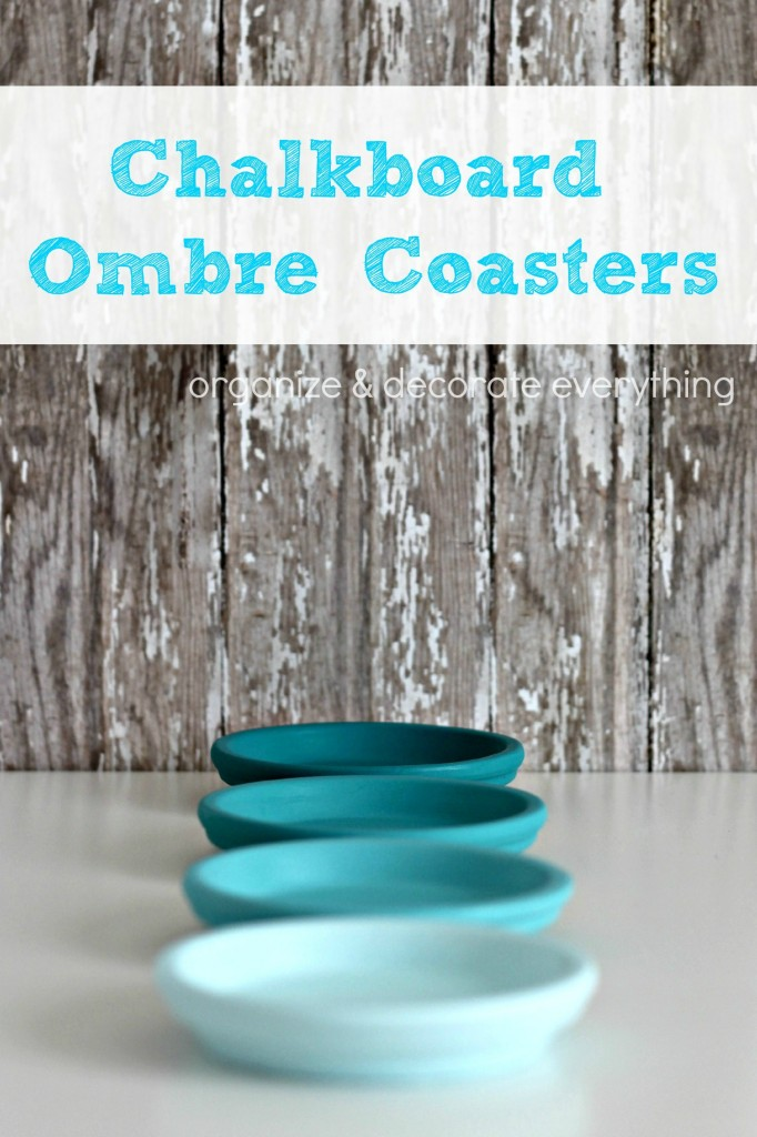 ombre painted coasters 2.2