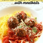 Roasted Spaghetti Squash with Meatballs – Food Contributor