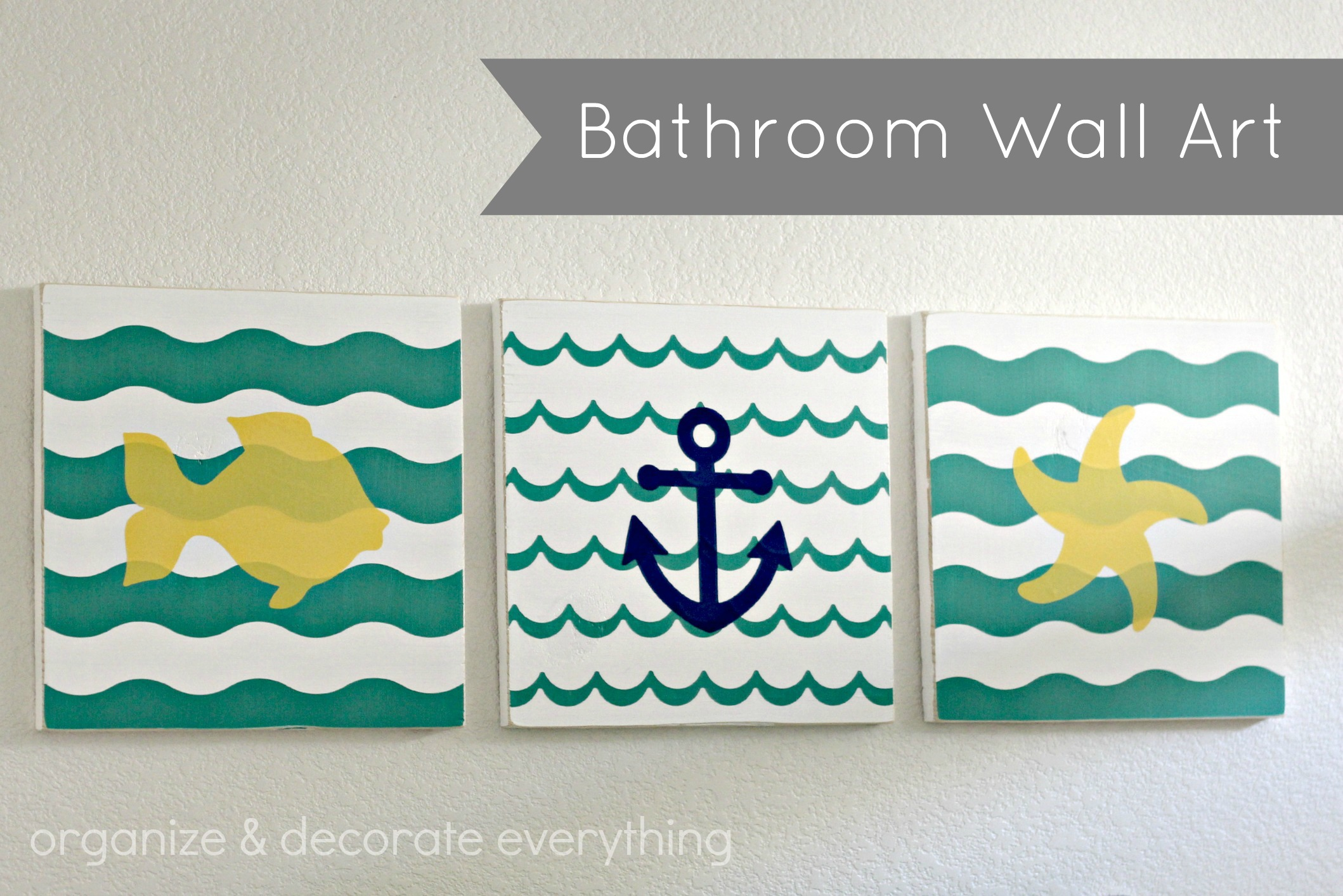 Bathroom Wall Art And Shape Tape Giveaway Organize And Decorate Everything