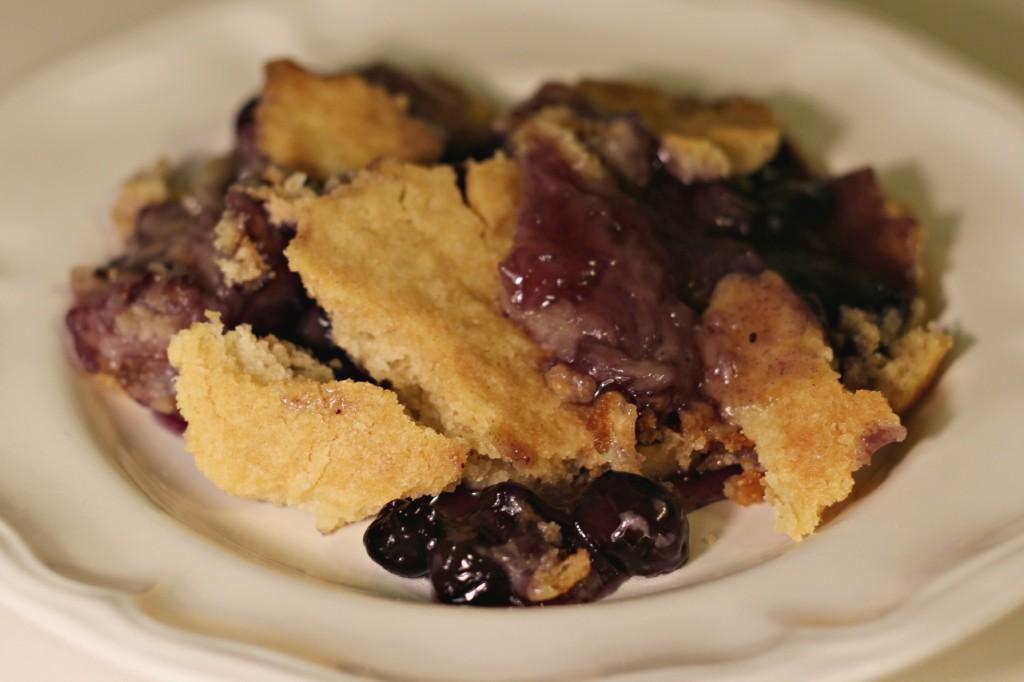 Blueberry Gluten Free Dump Cake