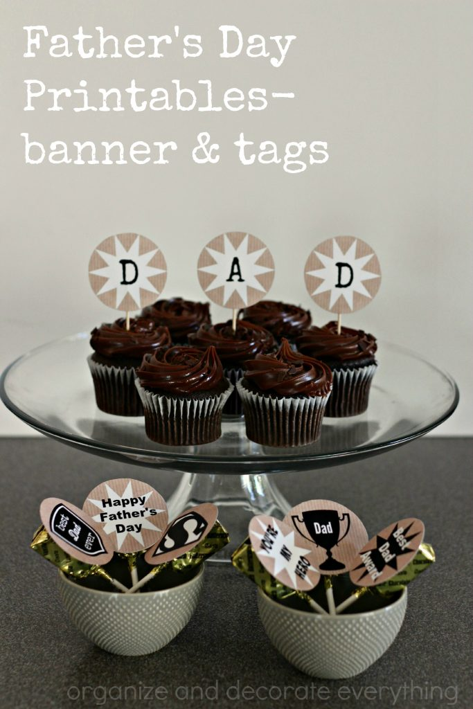 Fathers Day Printables Banner and Tags