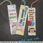 Printable and Colorable Bookmarks – Printable Contributor