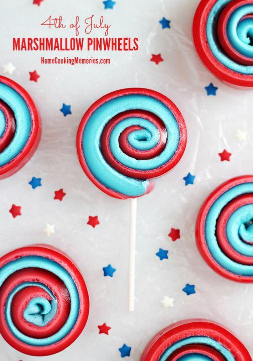 red white blue pinwheels