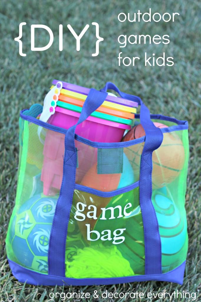 DIY outdoor games for kids