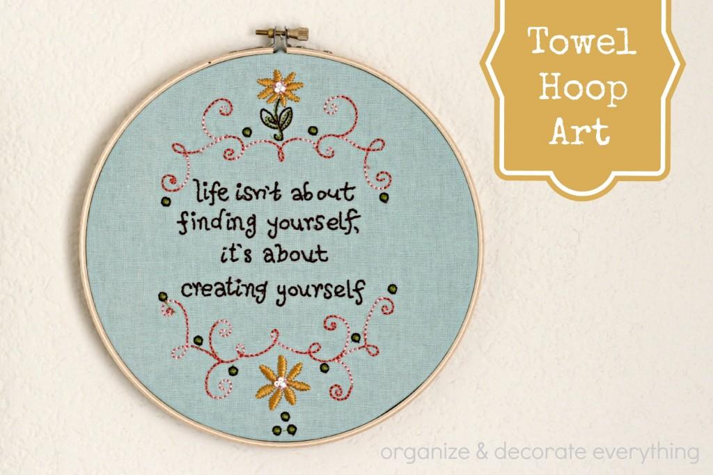 Towel to Hoop Art.1