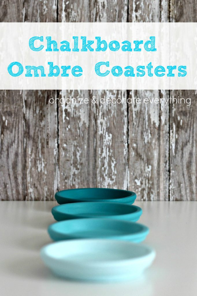Ombre Painted Chalkboard Coasters