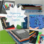 Organizing Back-to-School Supplies