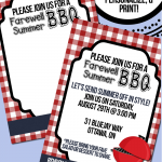 BBQ Invitation Printable