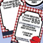 BBQ Invitation Printable