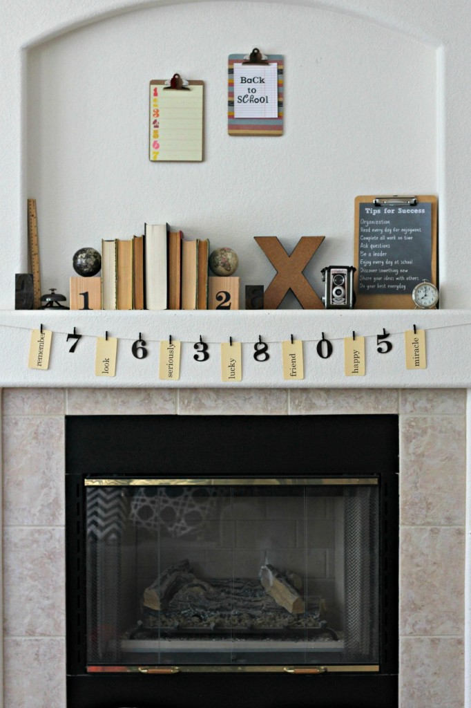 Back to School Mantel 7