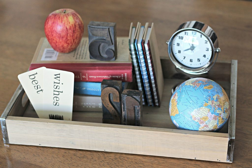 Back to school table setting