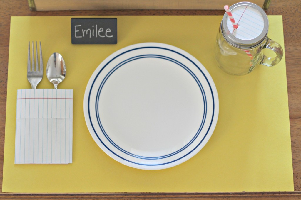 Back to School table setting 5