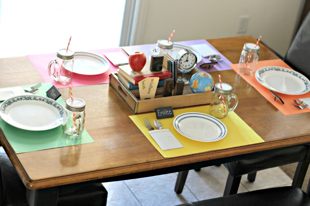 Back to school table setting 3