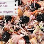 Blackberry Peach Slaw with Citrus Vinaigrette