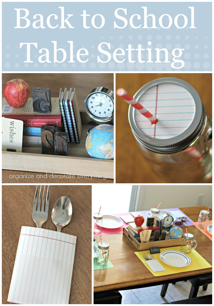 Celebrate back to school with Back to School Table Setting and a special meal