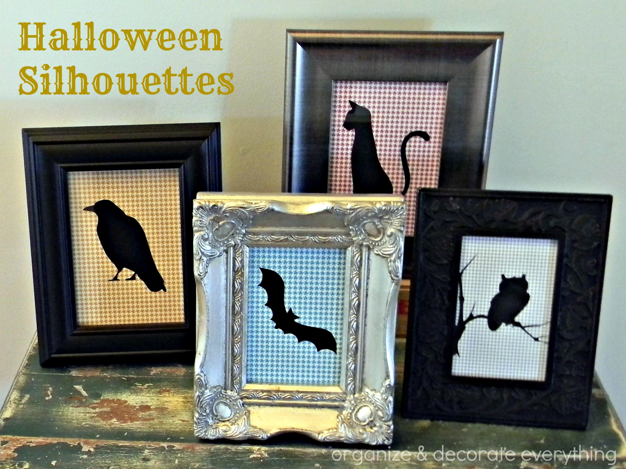 Halloween Silhouettes with Organize and Decorate Everything
