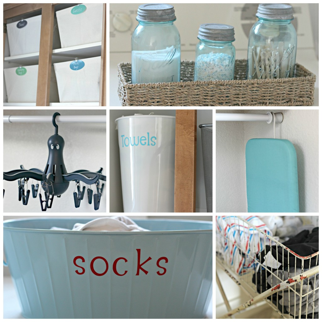 Laundry Room Organizing Collage