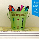 Make Reading Log Books with Sharpie