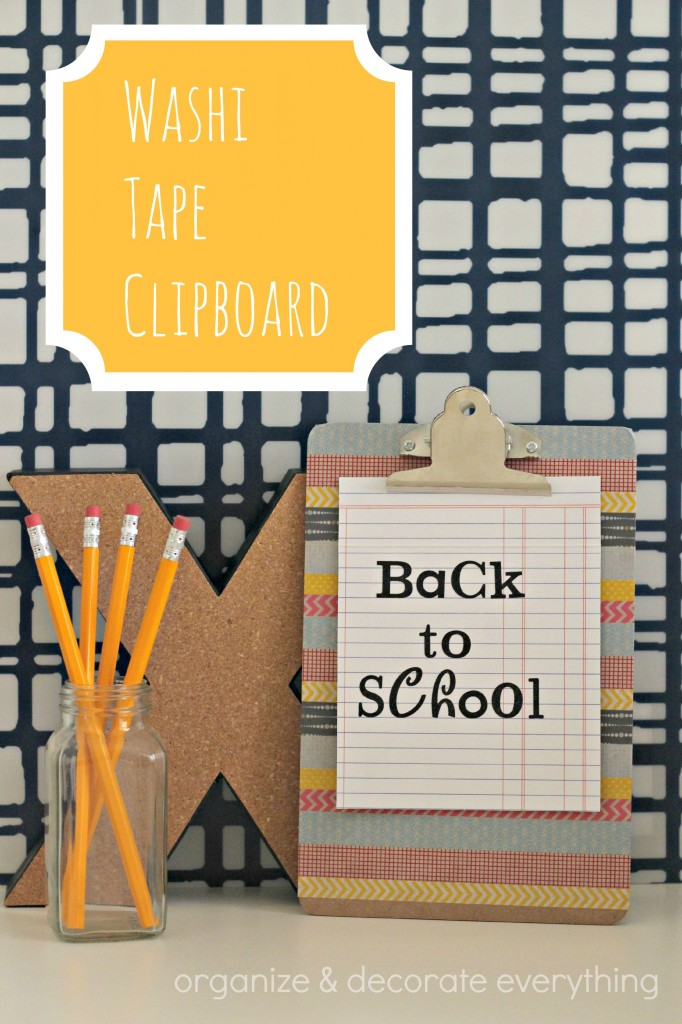 Washi Tape Clipboard 10.1