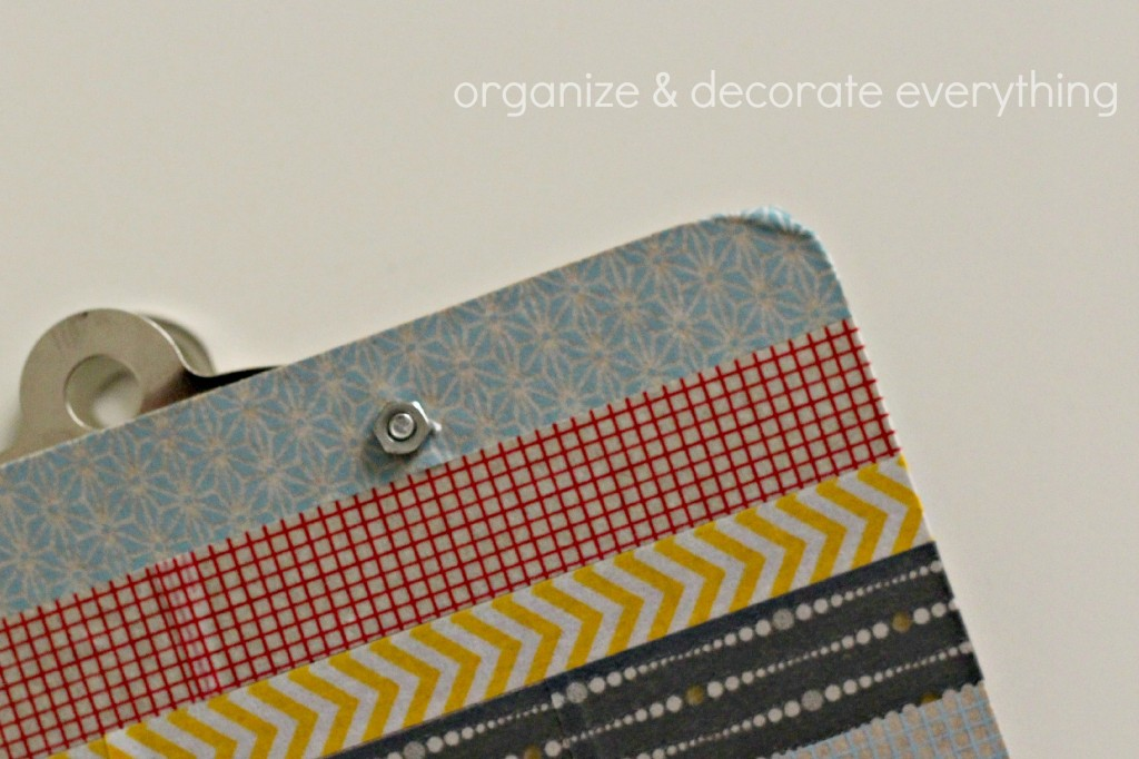 Washi Tape Clipboard 8.1