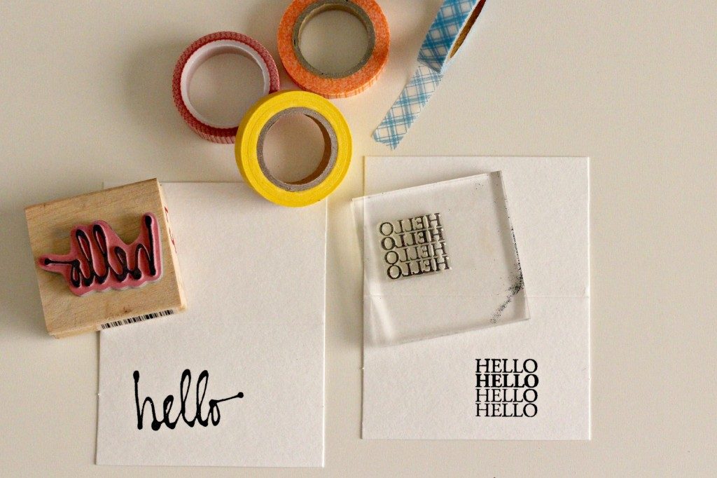 Washi Tape and Stamp Art 7