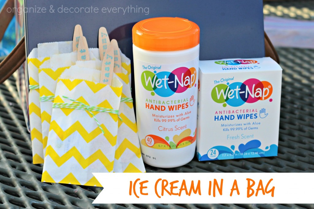 Wet-Nap and ice cream in a bag 5.1