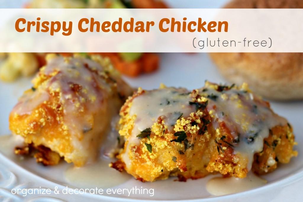Crispy Cheddar Chicken (gluten-free) - Organize & Decorate Everything