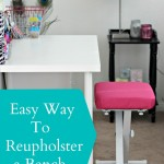 Easy Way to Reupholster a Bench