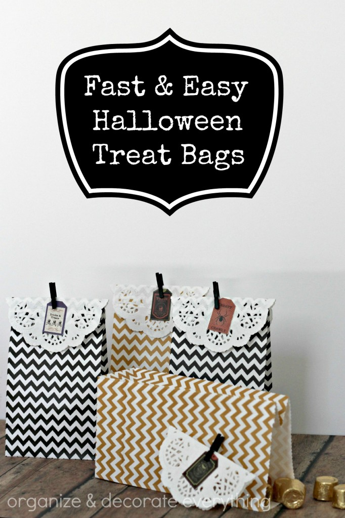 Fast and Easy Halloween Treat Bags - Organize and Decorate Everything