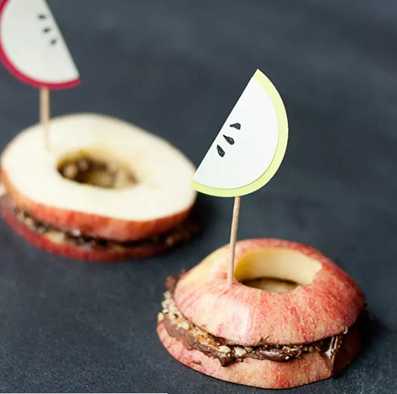 Paper Apple Slices Toppers