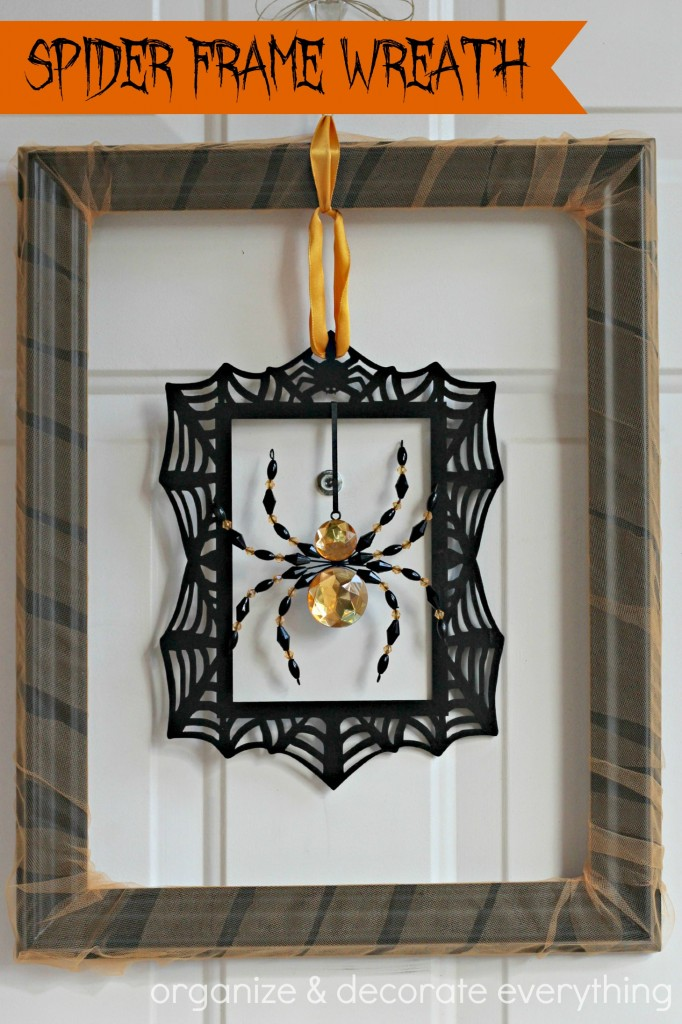 Spider Frame Wreath - Organize & Decorate Everything