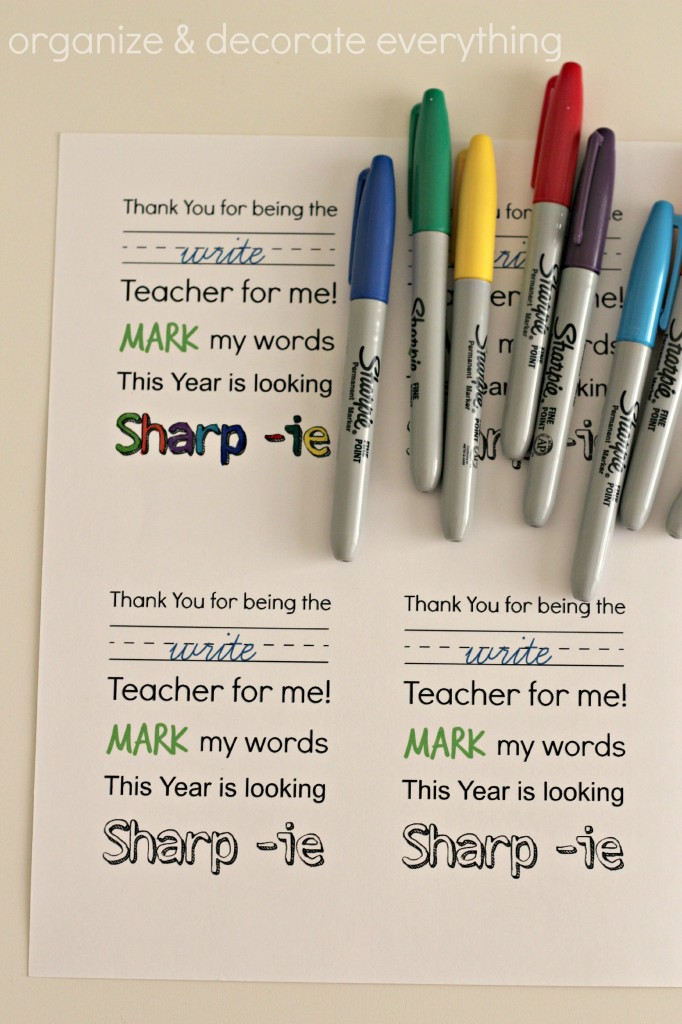 Teacher Gift and Printable 8.1