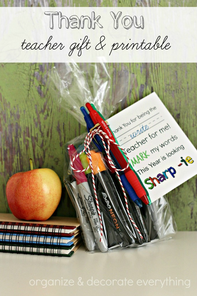 Thank you teacher gift and printable - Organize & Decorate Everything