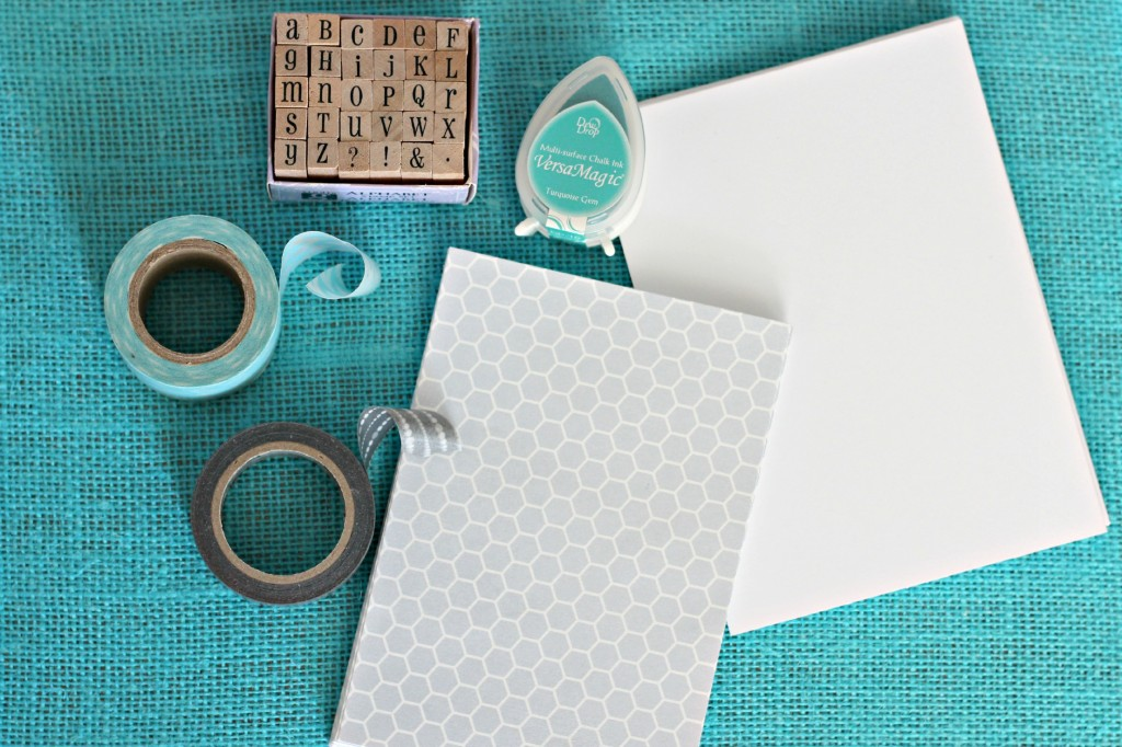 Washi Tape and Burlap Card 10
