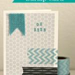 Washi Tape & Burlap Card