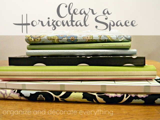 clear a horizontal space organizing series