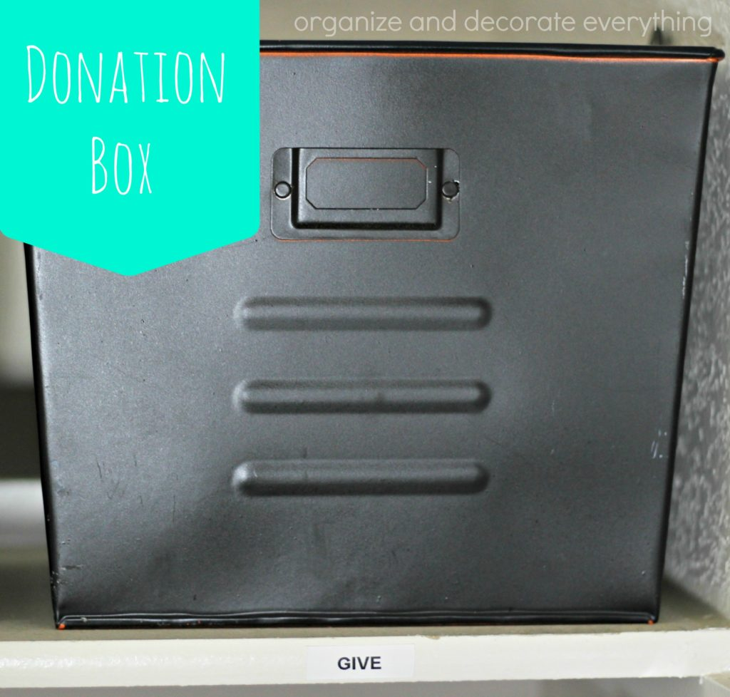 donation box 15 minute organizing