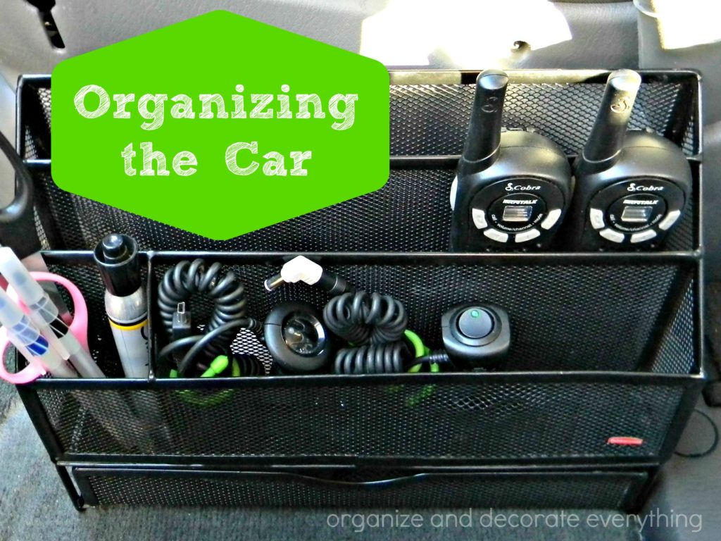 organizing the car 15 minutes