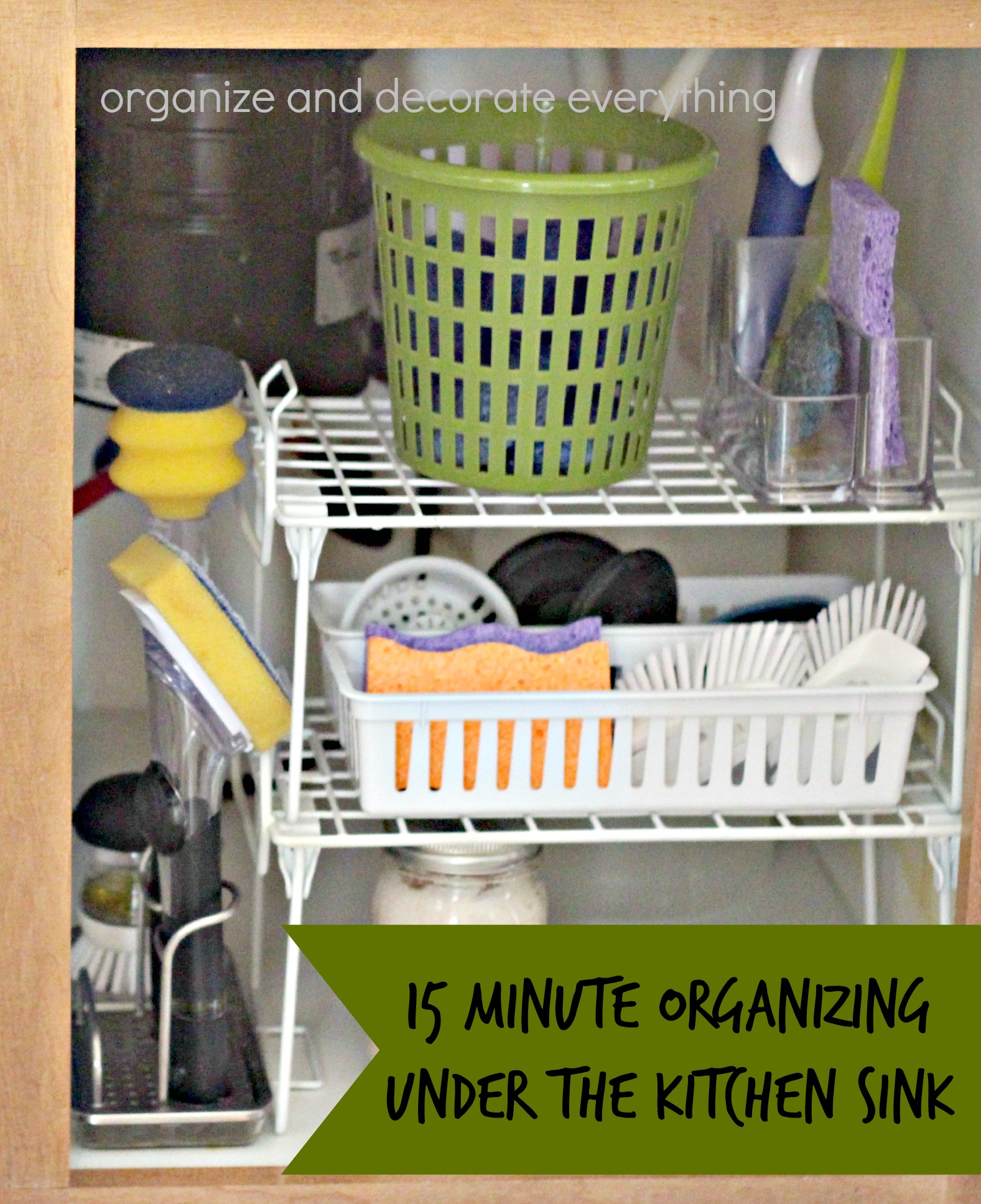 Under Kitchen Sink Organizing 31 Days Of 15 Minute Organizing Day 12 Under The Kitchen Sink