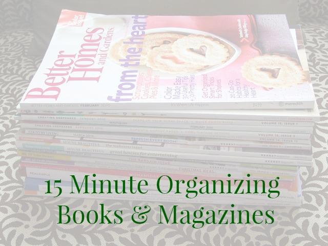 15 minute organizing books and magazines - Organize and Decorate Everything