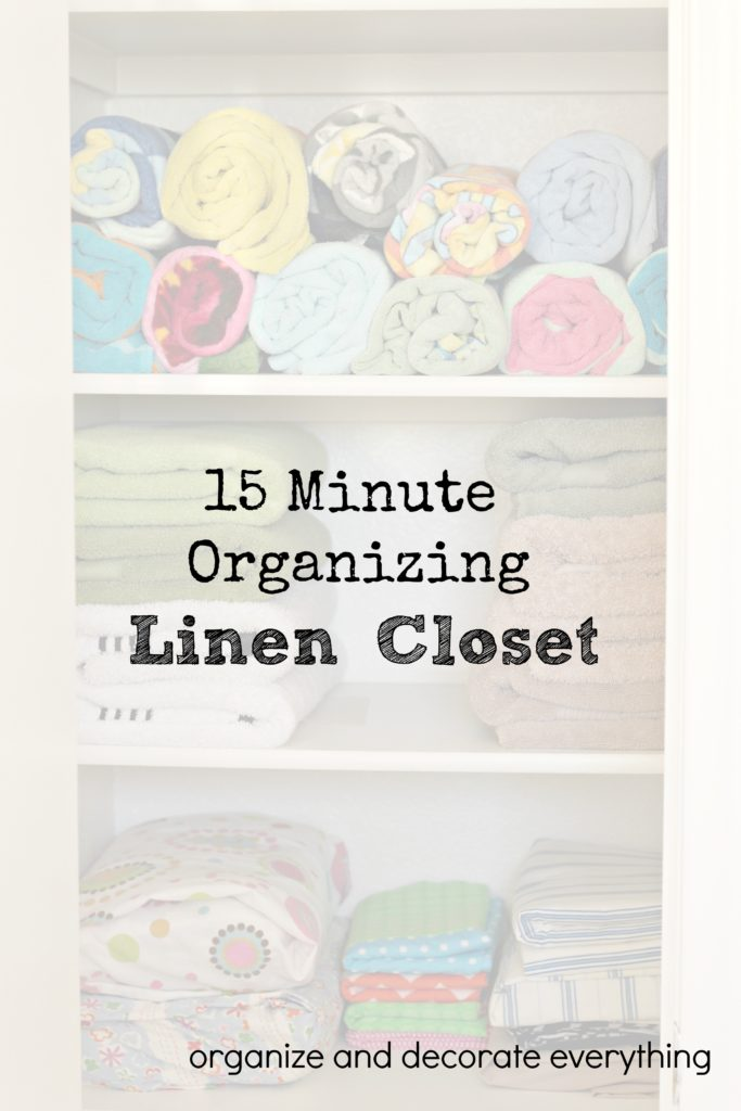 organizing the linen closet organizing series