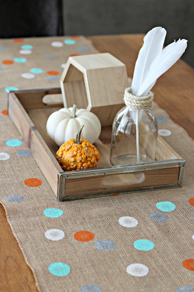 Polka Dot Burlap Table Runner 4