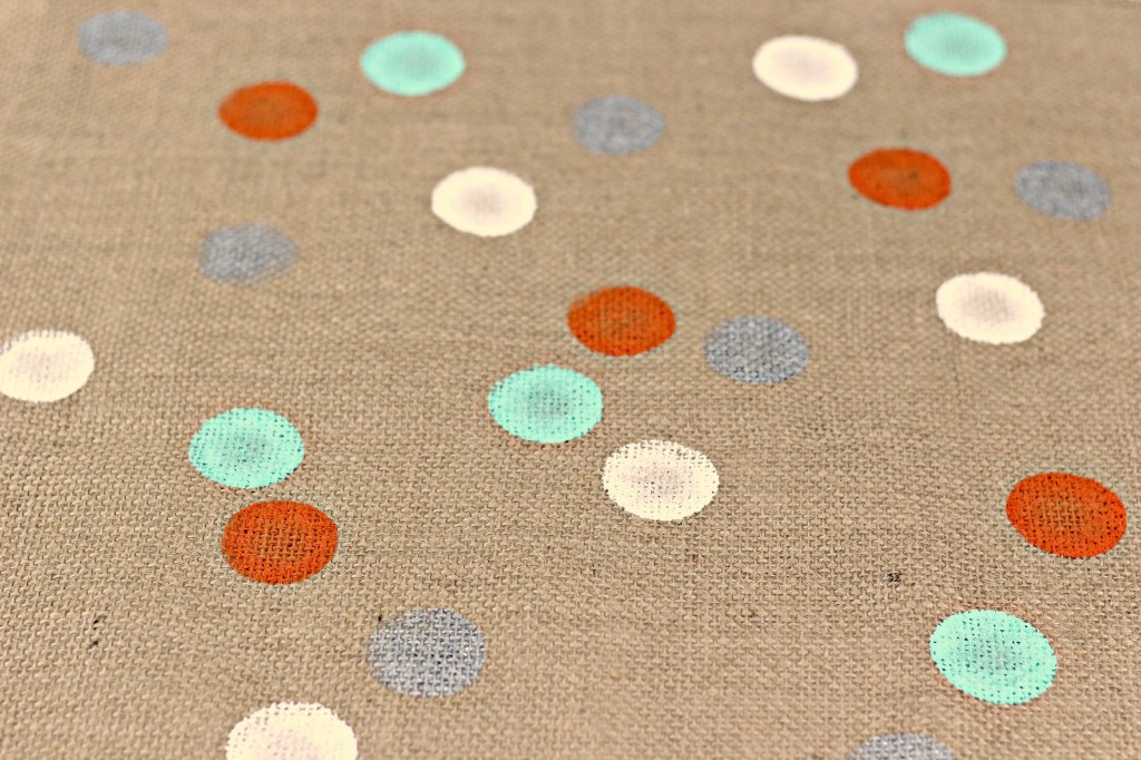 Polka Dot Burlap Table Runner 6