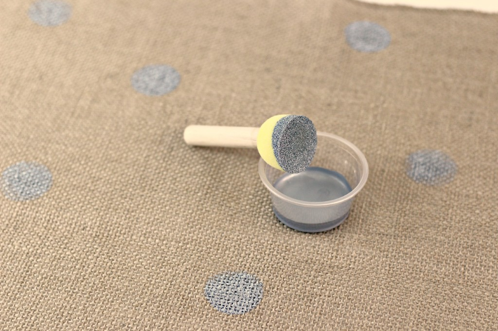 Polka Dot Burlap Table Runner 7